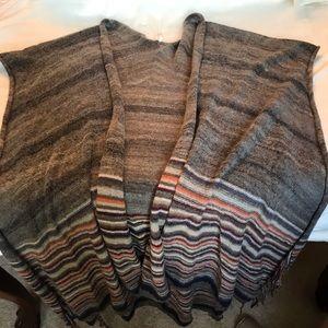 full length scarf/ sweater vest